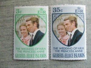 Gilbert and Ellice Islands, Scott#216-217, MNH