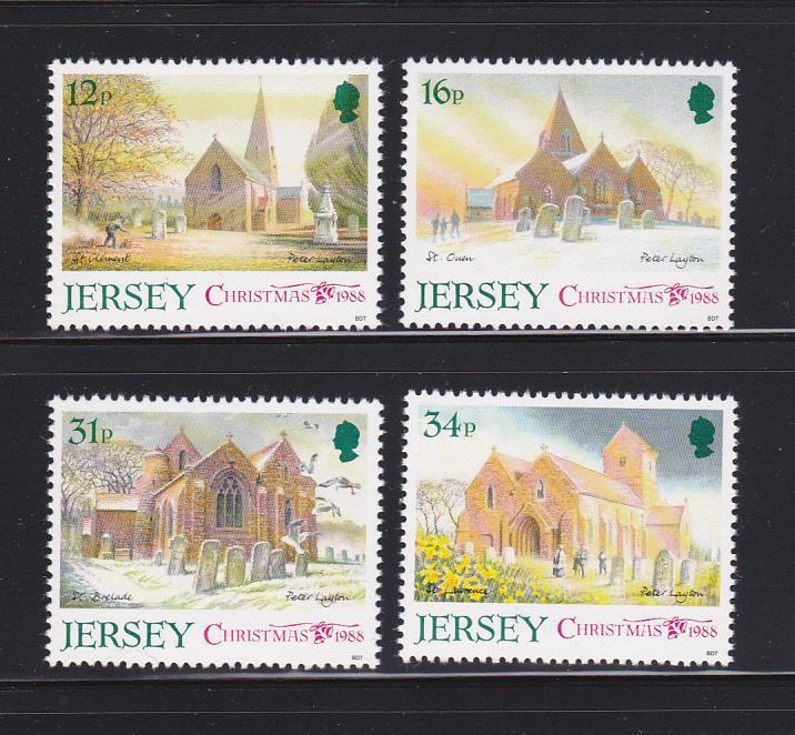 Jersey 467-470 Set MNH Christmas, Churches