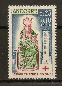 Andorra (Fr) 1964 Red Cross SG.F192 LHM Cat£31