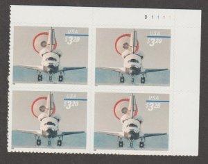U.S. Scott #3261 Space Shuttle Stamp - Mint NH Plate Block