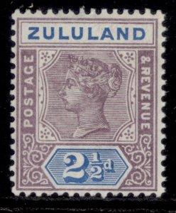 SOUTH AFRICA - Zululand QV SG22, 2½d dull mauve & ultramarine, M MINT. Cat £14.