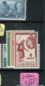 SARAWAK  (P2204B)  QEII   1C-4C     SG 188-191      MOG