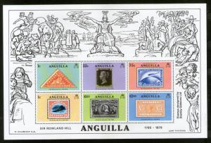 Anguilla 1979 Sir Rowland Hill Stamp on Stamp M/s Sc 354a MNH # 9088