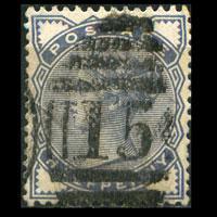 G.B. 1883 - Scott# 98 Queen 1/2p Used