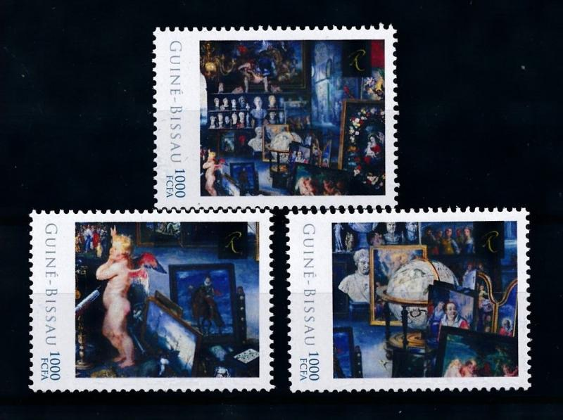 [75902] Guinea-Bissau 2012 Painting Rembrandt Allegory of Sight  MNH