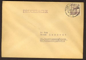 GERMANY RHINE PALATINATE FRENCH ZONE 1949 4pf Sc 6N31 KOBLENZ Printed Matter Cvr