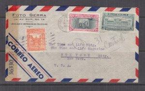 GUATEMALA,1944 censored airmail cover, Guatemala City to USA, 1c., 3c., 30c.