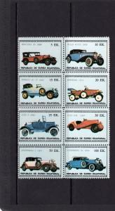 Equatorial Guinea 1976 Classic Cars Sheetlet (8) Perforated MNH VF