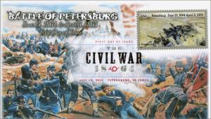 SC 4910,  2014 Battle of Petersburg , Civil War, FDC, Digital Color Postmark, It