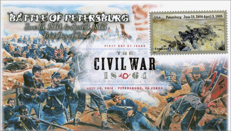 SC 4910,  2014 Battle of Petersburg , Civil War, FDC, Digital Color Postmark, It