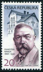 HERRICKSTAMP NEW ISSUES CZECH REPUBLIC Sc.# 3746 Frantisek Hamza