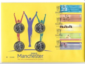 GB 2059 - 63  2002 Comm.Cover w/ 4  2lb coins