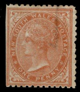 AUSTRALIA - New South Wales QV SG197, 1d brownish red, M MINT. Cat £85.