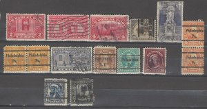 COLLECTION LOT # 3908 USA 15 STAMPS 1913+ CV+$20 (#628 FAULTY)