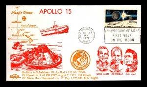 1971 Apollo 15 Re-entry & Splashdown 323 Mi. north of Hawaii - L33494