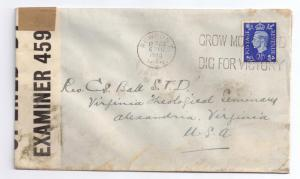 GB Censored 1940 Sc 239 Newport Monmouthshire Grow More Food