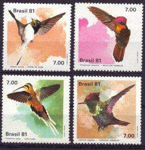 Brazil. 1981. 1823-6. Birds fauna. MNH.