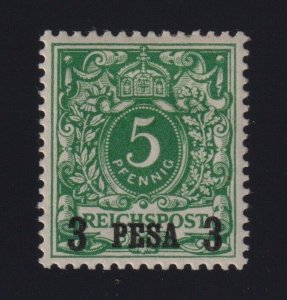 German East Africa Sc #2 (1893) 3pes on 5pf green Eagle Surcharge Mint H