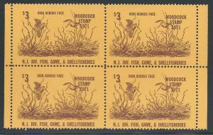 $3 Woodcock Stamp 1971, N.J. Div. Fish, Game & Shellfishe...