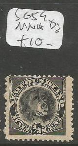 Newfoundland SG 59 Dog MNH (8cqp)