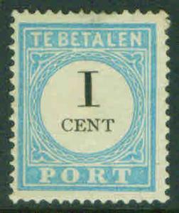Netherlands Scott J3  1881 type 3 MH** postage dueCV$11