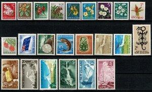 NEW ZEALAND 1960-66 QE II FULL SET SG781-802 MH Wmk. w98 P.14x14.5 / 14.5x14 VGC