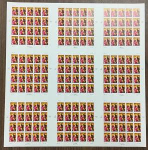 US #3203, UNCUT PRESS SHEET.  Cinco de Mayo,  MNH. Face value $57.60