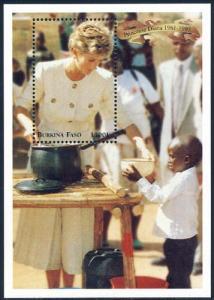 Burkina Faso 1998 Sc 1094 Diana Princess of Wales SS Stamp**