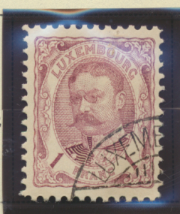 Luxembourg Stamp Scott #91, Used, Part Luxembourg Cancel - Free U.S. Shipping...