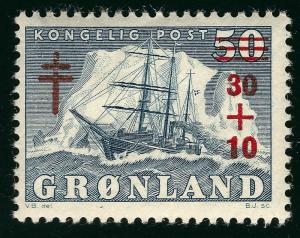 Greenland (Scott B1) F- VF MNH...Nice!