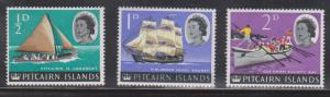 PITCAIRN ISLANDS Scott # 39-41 MH - QEII & Ships