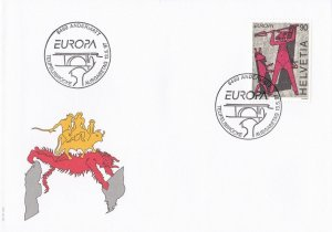 SW34) Switzerland 1997 EUROPA Stamps - Tales & Legends FDC