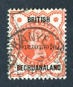 British Bechuanaland Protectorate1890. 1/2d vermilion. Used. OPT INVERTED. SG54a