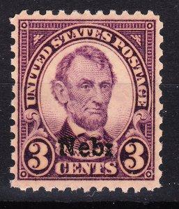 MOstamps - US #672 Mint OG NH Nebraska - Lot # DS-41