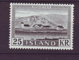 J19184 Jlstamps 1957 iceland set of 1 mnh #305 presidents residence