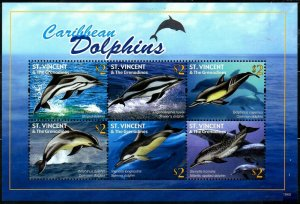 2011 St Vincent and Grenadines 6906-6911KL Marine fauna - Dolphins 10,00 €