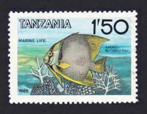Tanzania Angelfish 1v 1Sh50 CTO SG#489 SC#328