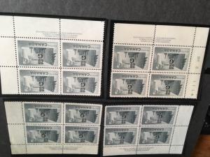 Canada USC #O30 Mint MS PB's Cat. $128. 1952 20c Pulp&Paper Ovpt. G Pl. 2