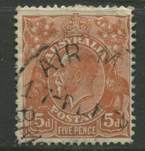 Australia - Scott 120 - KGV Head -1932 - Used - Wmk- 228 - 5p Stamp