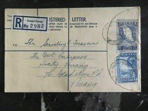 1963 Malaya Kedah Registered Letter Cover To The Treasure Secretary Penang