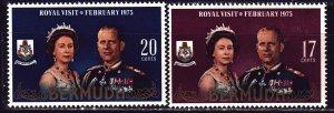Bermuda. 1975. 305-6. Queen Elizabeth and Prince Philip. MNH.