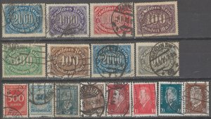 COLLECTION LOT # 2841 GERMANY 16 STAMPS 1922+ CLEARANCE CV+$43
