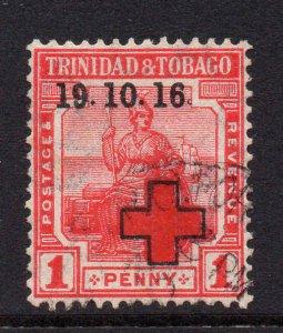 Trinidad Tobago 1916 War Tax with partial no stop after 16 used