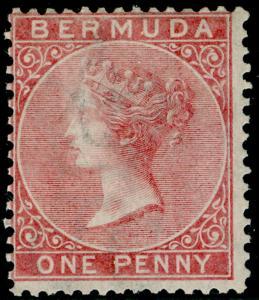 BERMUDA SG2, 1d pale rose, LH MINT. Cat £140.