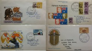 Australia 1973 Australians & Legacy & 1969 Northern Territory & Ports FDC