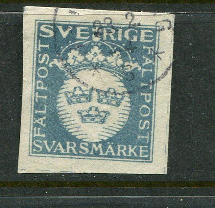 Sweden Faltpost Military Stamp Blue