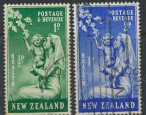 New Zealand SG 698-699    Health 1988 Used  see scan