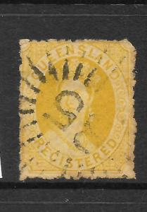QUEENSLAND 1860-61  6d  REGISTERED   QV    FU    SG 11