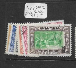 COLOMBIA  (PP1403B)   A/M   OVPT L    SC C200-2, 204-76   VFU