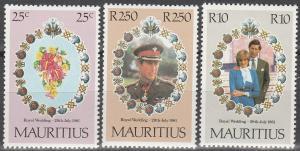 Mauritius #520-2  MNH F-VF  CV $2.75 (V1458)